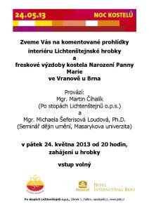 20130524 pozvánka na Noc kostelů, Vranov u Brna