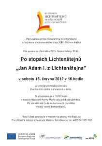 Pozvánka na přednášku Jan Adam I. 20120616