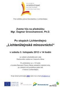 Pozvánka na přednášku LI mincovnictví