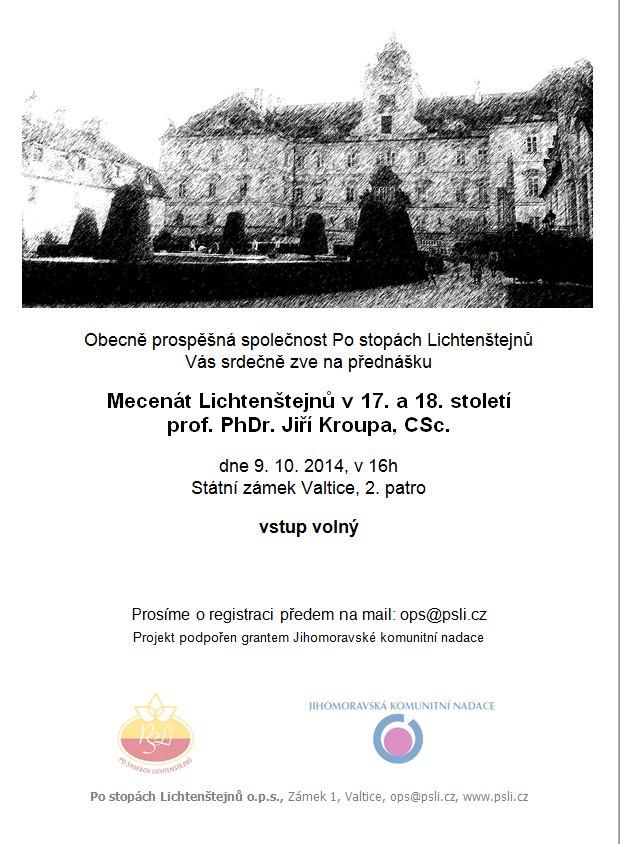 Pozvánka 9.10._mecenát Lichtenštejnů